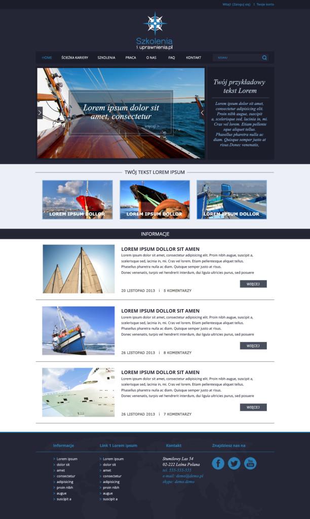 projekt portalu dla marynarzy