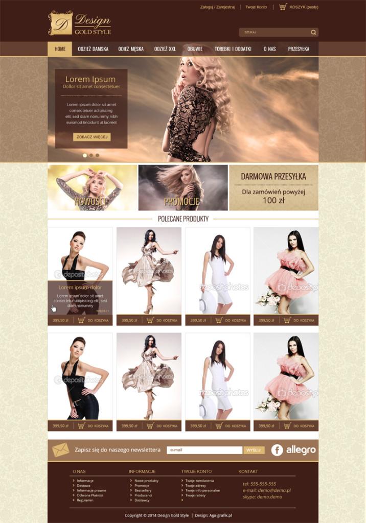 projekt-sklepu-internetowego-odzież