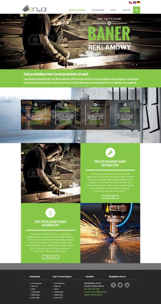 projekt-strony-przedsiębiorstwo-produkcyjno-logistyczne