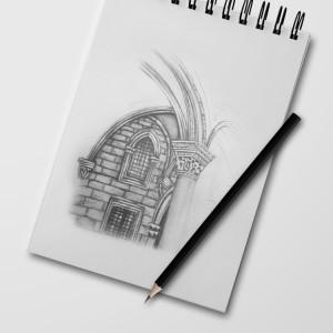 szkic-olowkiem-ilustracja-architektura